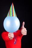 Portret van een mensenlichaam met ballon Stock Foto's