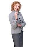 Portret van een Midden Oude BedrijfsVrouw Stock Afbeelding