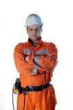 Portret van een mijnarbeider Stock Foto
