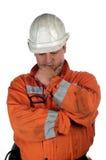 Portret van een mijnwerker Stock Foto's