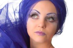 Portret van een model met een ongebruikelijke make-up Royalty-vrije Stock Afbeelding