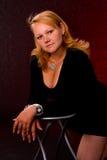 Portret van een mollig meisje royalty-vrije stock fotografie