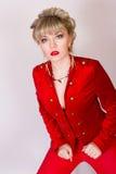Portret van een mooi jong blondemeisje Stock Foto's