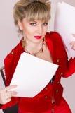 Portret van een mooi jong blondemeisje Stock Afbeeldingen