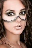 Portret van een mooi jong meisje met professionele make-up Stock Fotografie