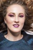 Portret van een mooi meisje E royalty-vrije stock afbeeldingen