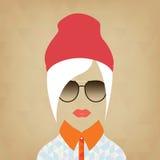Portret van een mooi meisje hipster Royalty-vrije Stock Fotografie