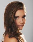 Portret van een mooi meisjesgezicht Stock Foto's