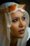 Portret van een mooi multiraciaal meisje royalty-vrije stock fotografie