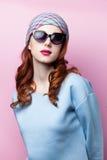 Portret van een mooi redhead meisje Stock Afbeelding