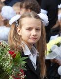 Portret van een mooi schoolmeisje Stock Afbeelding