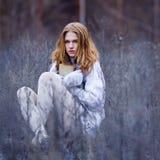 Portret van een mooi vrouwelijk model Stock Foto