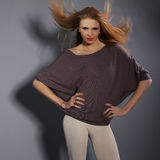 Portret van een mooi vrouwelijk model Royalty-vrije Stock Afbeelding