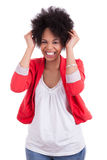 Portret van een mooie Afrikaanse Amerikaanse vrouw Stock Foto