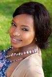 Portret van een mooie Afrikaanse vrouw Stock Fotografie