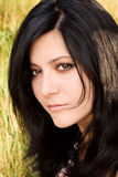 Portret van een mooie brunette Royalty-vrije Stock Afbeelding