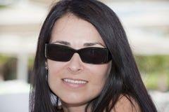Portret van een mooie brunette Stock Fotografie