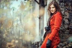 Portret van een mooie dame Stock Foto
