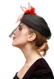 Portret van een mooie dame in een sluier Royalty-vrije Stock Fotografie