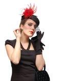 Portret van een mooie dame in een sluier Royalty-vrije Stock Foto's