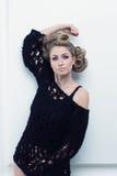 Portret van een mooie droevige blonde Royalty-vrije Stock Foto's