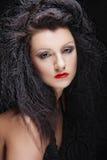 Portret van een mooie en sexy donkerbruine vrouw royalty-vrije stock foto's