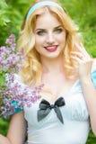 Portret van een Mooie jonge blonde Stock Foto's