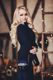 Portret van een mooie jonge blonde vrouw Royalty-vrije Stock Foto