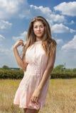 Portret van een mooie jonge bruin-haired vrouw stock fotografie