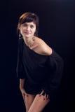 Portret van een mooie jonge dame royalty-vrije stock fotografie