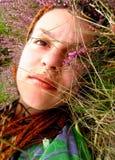 Portret van een mooie jonge dame Stock Afbeelding