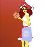 Portret van een mooie jonge vrouw die chri draagt royalty-vrije illustratie