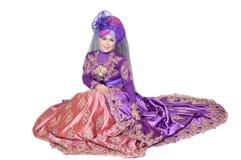 Portret van een mooie moslimvrouw Stock Afbeelding