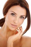 Portret van een mooie natuurlijke vrouw Royalty-vrije Stock Fotografie