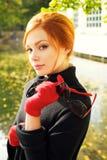 Portret van een mooie roodharige vrouw stock fotografie