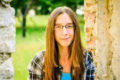 Portret van een mooie tiener in het Park Royalty-vrije Stock Fotografie