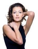 Portret van een mooie volwassen sexy vrouw Stock Foto