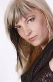 Portret van een mooie vrouw Stock Foto