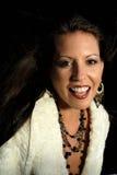 Portret van een Mooie Vrouw Royalty-vrije Stock Afbeeldingen