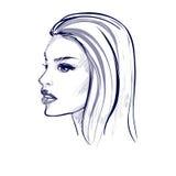 Portret van een mooie vrouw Stock Afbeeldingen