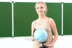 Portret van een mooie vrouwelijke leraar Stock Fotografie