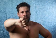 Portret van een naakte mens Stock Fotografie