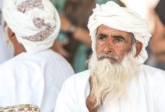 Portret van een Omani mens in een traditionele Omani kleding Nizwa, Oman - 15/OCT/2016 Stock Fotografie