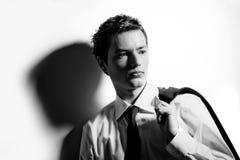 Portret van een ondergeschikte zakenman. Royalty-vrije Stock Afbeeldingen