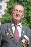 Portret van een oorlogsveteraan Kiev, de Oekraïne Stock Foto's