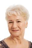 Portret van een oude, bejaarde dame. Stock Afbeeldingen