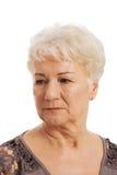 Portret van een oude, bejaarde dame. royalty-vrije stock afbeelding