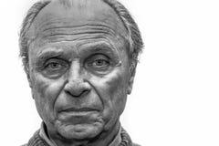 Portret van een oude mens Stock Foto's