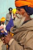 Portret van een oude sikh heer Royalty-vrije Stock Afbeelding