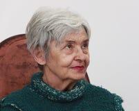 Portret van een oude vrouw Royalty-vrije Stock Foto